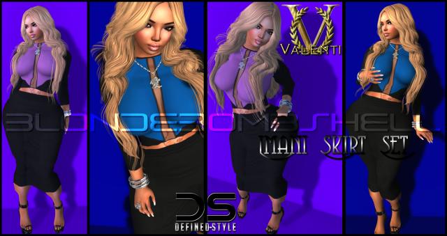DS -- Imani Skirt Set-- Valenti